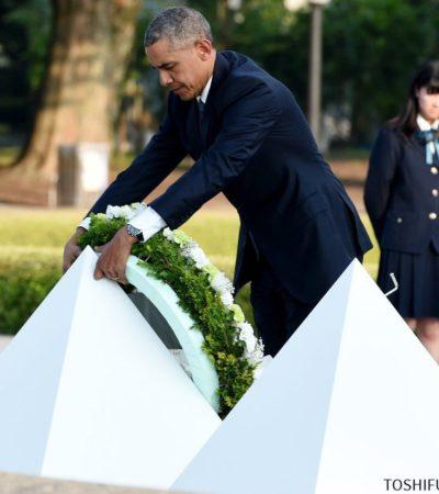 """""""NO REPETIREMOS ESTA TRAGEDIA"""": Visita Obama a Hiroshima y rinde homenaje a las víctimas de la primera bomba atómica lanzada por EU"""