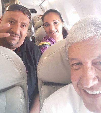 'LA POLISEX' Y AMLO, JUNTOS: Coincide la ex policía del 'topless' con el líder de Morena en avión rumbo a Oaxaca