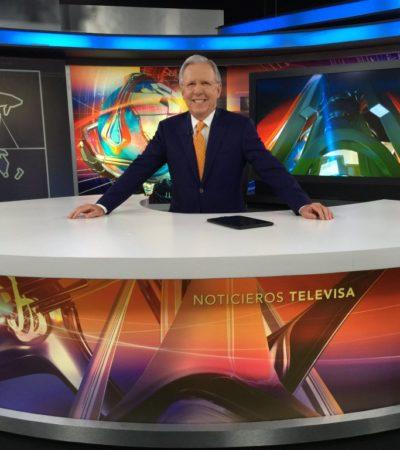 PRELIMINAR   Tras 16 años de ser la voz del oficialismo en TV, anuncia López Dóriga su salida de 'El Noticiero' de Televisa