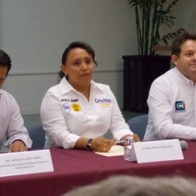 Incorporará Cristina Torres a colegios de profesionistas a planes y programas de gobierno
