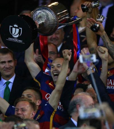 DOBLETE EN ESPAÑA: Gana Barcelona, campeón de liga, la Copa del Rey al Sevilla