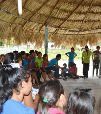 Visita Domingo Flota comunidades de Pimientita, Pedro Moreno, Lázaro Cárdenas, López Mateos y Dos Aguadas