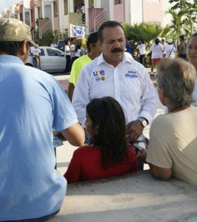 """""""MI GOBIERNO DARÁ NUEVO ROSTRO A BONFIL"""": Promete Julián Ricalde mejores servicios públicos y seguridad con el cambio de gobierno"""