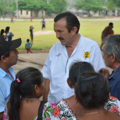 """Ofrece Domingo Flota obras en X-Cabil y Huay-Max """"en el segundo día de mi administración"""""""