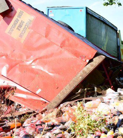 ACCIDENTES EN LAS 'CURVAS DEL DIABLO': Dos traileres se vuelcan en el peligroso tramo de carretera de JMM