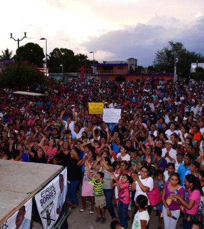 Candidato independiente Erik Borges Yam en JMM cierra campaña ante multitud