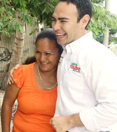 Se compromete Carlos Toledo a brindar capacitación a madres trabajadoras