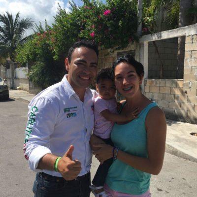 En la recta final de las campañas, pide Carlos Toledo el voto para los candidatos de la alianza PRI-PVEM-Panal