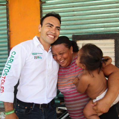 Con su voto tendremos mayor seguridad y mejores empleos, dice Carlos Toledo