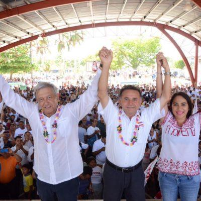 Realiza López Obrador gira por el sur de QR para respaldar a Pech Várguez