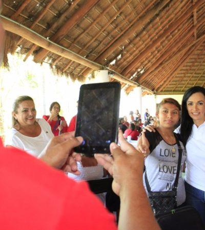Dice Laura Fernández que será fiel vigilante y protectora del medio ambiente en Puerto Morelos