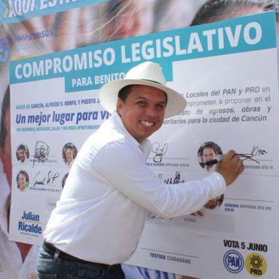 Ofrece candidato del Distrito IV realizar una auditoría exhaustiva a la deuda pública de Quintana Roo