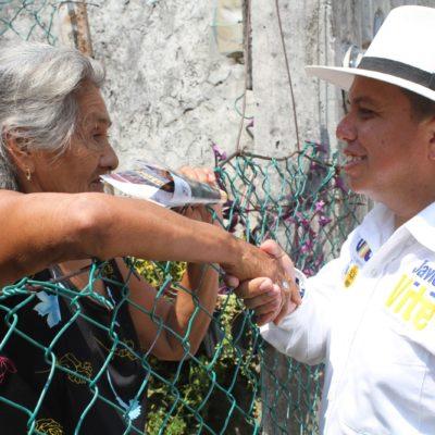 Ofrece Javier Vite garantías para que adultos mayores reciba pensión vitalicia