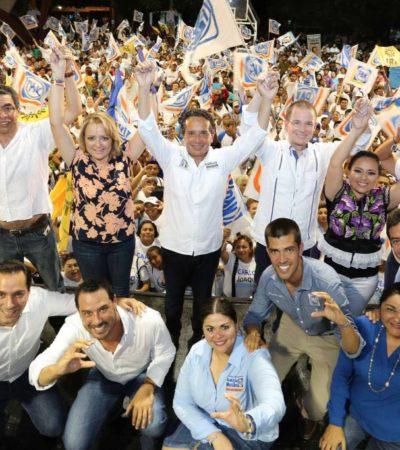EMPIEZAN LOS CIERRES DE CAMPAÑA: Carlos Joaquín llama al cambio y a no desperdiciar el voto y, desde Cozumel, insisten en la corrupción de Mauricio