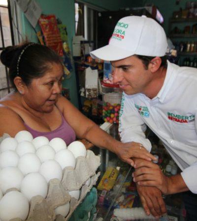 LLAMA REMBERTO A ABATIR ABSTENCIONISMO: Pide candidato salir a votar para definir el rumbo de Benito Juárez