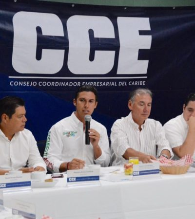 """QUEDARÁ EN EL OLVIDO 'DEUDOR SOLIDARIO': Remberto Estrada se reúne con empresarios del CCE; """"me interesa escuchar a todos"""", asegura"""