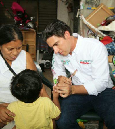 Plantea Remberto Estrada urgente respeto a medio ambiente en Benito Juárez