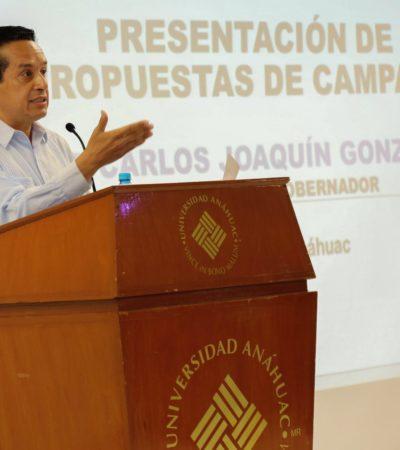 CARLOS JOAQUÍN EN LA ANÁHUAC: Ofrece candidato apoyo a jóvenes emprendedores y estímulos a empresas que den un primer empleo