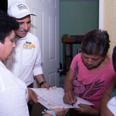 Se compromete Jorge Portilla a mejorar servicios públicos en Tulum