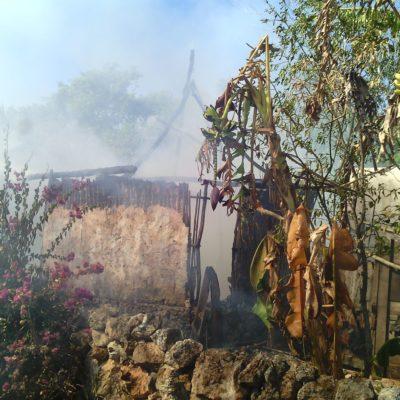 YA ERAN POBRES Y SE QUEMÓ LA CASA: Consume incendio humilde vivienda en comunidad de 'La Presumida' en JMM