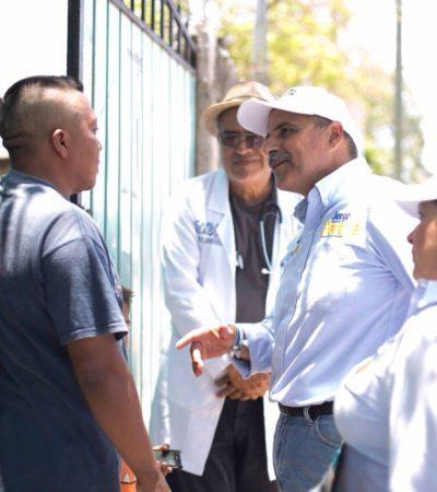 'Médico en tu casa', primer compromiso cumplido, dice Jorge Portilla en Tulum
