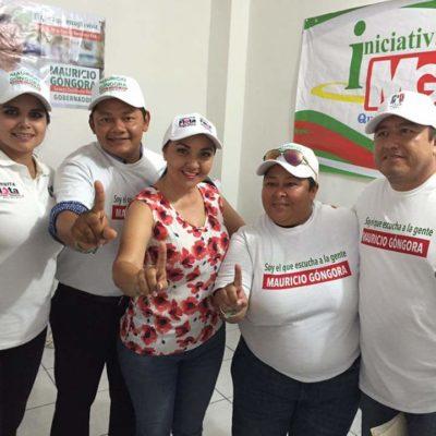 En horas de trabajo, regidor de Solidaridad hace proselitismo a favor de candidata de la alianza PRI-PVEM-Panal en Solidaridad