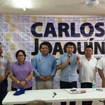 """Descalifica alianza PAN-PRD campaña de 'guerra sucia' del PRI en QR; """"no vamos a caer en ese juego"""", dicen"""