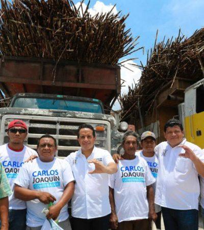 Habitantes del sur de Quintana Roo manifiestan su respaldo a Carlos Joaquín y Luis Torres Llanes