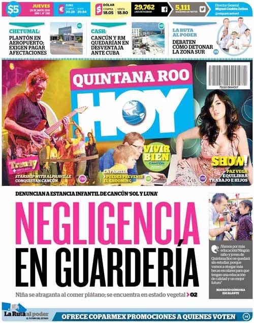 ENCUBREN A MAURICIO PERIÓDICOS DE QR: Mientras prensa nacional difunde denuncia de Carlos, medios locales censuran y tienden 'cortinas de humo'