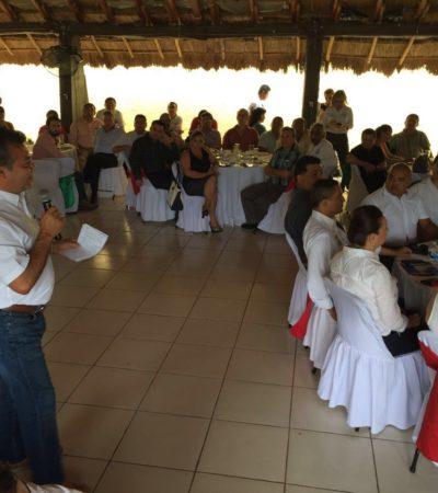 Se reúne Góngora con empresarios de Chetumal