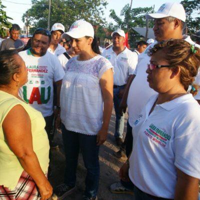 Habrá internet gratuito en Puerto Morelos, anuncia Laura Fernández