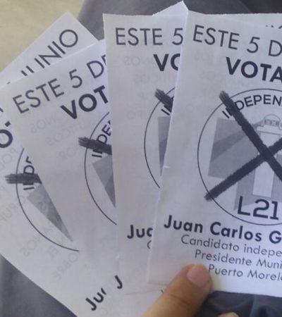 Le apuesta candidato independiente de Puerto Morelos al hartazgo ciudadano para ganar la elección