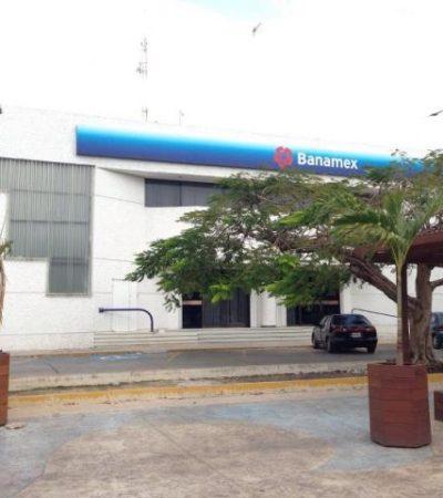 INSEGURIDAD EN CANCÚN: Despojan de $50 mil a una mujer tras salir del banco a unos metros del Ayuntamiento de BJ