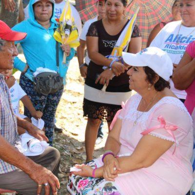 Los adultos mayores volverán a tener una vida más digna: Alicia Ricalde
