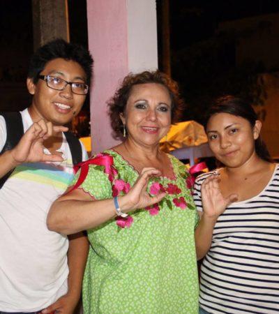 Alicia Ricalde se compromete con la educación de los jóvenes isleños
