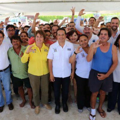 Respaldan senadores candidaturas de Carlos y Cristina