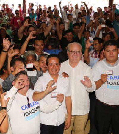 Quintana Roo merece y tendrá un gobierno incluyente, dice Carlos Joaquín al recibir respaldo de ex morenistas en QR