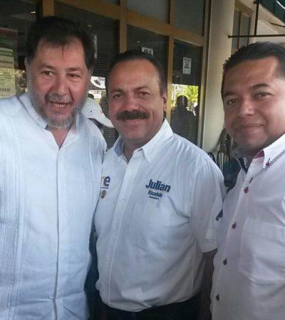 Desde Cancún, reitera Fernández Noroña su llamado a Carlos Joaquín y a Pech Várguez a unirse para derrotar al PRI en Quintana Roo