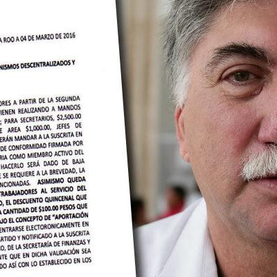 EXHIBEN AL 'MAPACHE' ORTEGÓN: Presentan denuncia contra el secretario de Salud de Borge por ordenar a trabajadores estatales votar por Mauricio