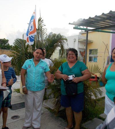 Dice Cristina Torres que revertirá la concesión de Aguakán en Solidaridad