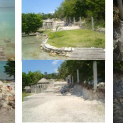 Clausura Profepa construcción de casa de descanso junto a la laguna en Bacalar