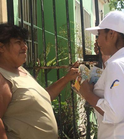 Buscaré más recursos para clínicas y hospitales, e impulsaré las brigadas permanentes de salud: Gicela Alvarez Reyes