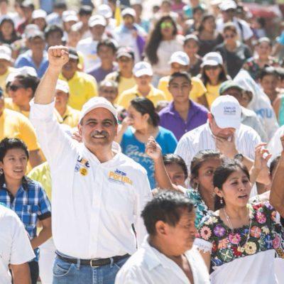 Dice Jorge Portilla que combatirá la corrupción y el nepotismo que ha prevalecido en Tulum