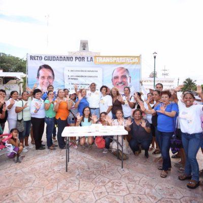 Presenta Jorge Portilla en público su '3 de 3' para cumplir reto de la transparencia en Tulum