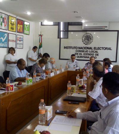 SIN NOVEDAD EN EL FRENTE… NOMÁS SE DESFONDÓ EL PRI: Realiza el INE la última sesión ordinaria del proceso electoral de QR