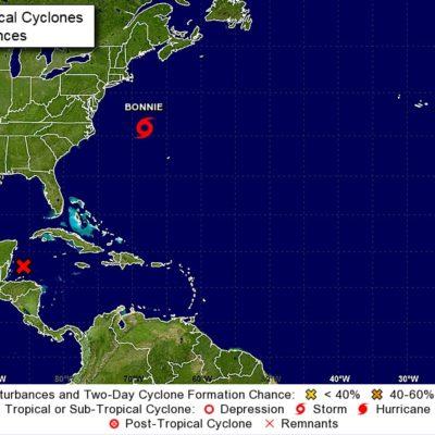 MONITOREO EN EL CARIBE: Sube a 70% posibilidad de que se forme ciclón tropical sobre la península de Yucatán en próximos días; prevén lluvias en QR