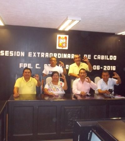 MUESTRAN DIGNIDAD EN FCP: Suspenden sesión del Cabildo para respaldar el blindaje a Borge porque 6 regidores se pronunciaron en contra