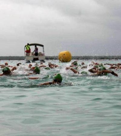 Hallan muerto a nadador que competía en Maratón de Aguas Abiertas en Bacalar; sufrió un infarto