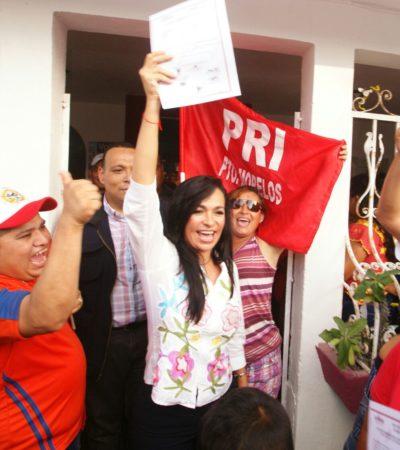 """Dice Laura Fernández que su triunfo en Puerto Morelos es """"irreversible y contundente"""""""