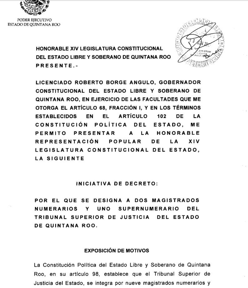 LOS HOMBRES DE 'BETO' PARA EL TRIBUNAL: Presenta Borge al Congreso tres ternas para imponer a incondicionales como nuevos magistrados del TSJ